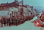 Image of German troops marching to surrender to Western Allies Pilsen Czechoslovakia, 1945, second 6 stock footage video 65675055608