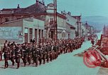 Image of German troops marching to surrender to Western Allies Pilsen Czechoslovakia, 1945, second 7 stock footage video 65675055608