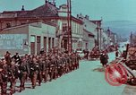 Image of German troops marching to surrender to Western Allies Pilsen Czechoslovakia, 1945, second 22 stock footage video 65675055608