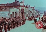 Image of German troops marching to surrender to Western Allies Pilsen Czechoslovakia, 1945, second 24 stock footage video 65675055608