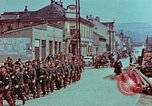 Image of German troops marching to surrender to Western Allies Pilsen Czechoslovakia, 1945, second 25 stock footage video 65675055608