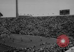 Image of football match East Lansing Michigan USA, 1958, second 9 stock footage video 65675055663