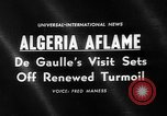 Image of Charles De Gaulle Algeria, 1960, second 1 stock footage video 65675055678