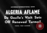Image of Charles De Gaulle Algeria, 1960, second 2 stock footage video 65675055678