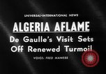 Image of Charles De Gaulle Algeria, 1960, second 4 stock footage video 65675055678