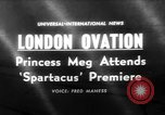 Image of premiere of Spartacus London England United Kingdom, 1960, second 1 stock footage video 65675055682