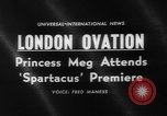 Image of premiere of Spartacus London England United Kingdom, 1960, second 3 stock footage video 65675055682