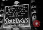 Image of premiere of Spartacus London England United Kingdom, 1960, second 10 stock footage video 65675055682
