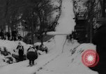 Image of Tokle Memorial Ski Jump Bear Mountain New York USA, 1961, second 6 stock footage video 65675055704