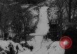 Image of Tokle Memorial Ski Jump Bear Mountain New York USA, 1961, second 7 stock footage video 65675055704
