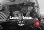 Image of train collusion Lowell Massachusetts USA, 1955, second 1 stock footage video 65675055712