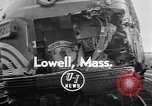 Image of train collusion Lowell Massachusetts USA, 1955, second 2 stock footage video 65675055712