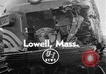 Image of train collusion Lowell Massachusetts USA, 1955, second 3 stock footage video 65675055712