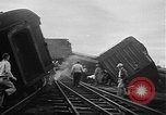 Image of train collusion Lowell Massachusetts USA, 1955, second 7 stock footage video 65675055712