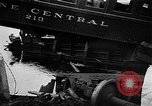 Image of train collusion Lowell Massachusetts USA, 1955, second 8 stock footage video 65675055712