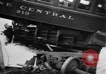 Image of train collusion Lowell Massachusetts USA, 1955, second 9 stock footage video 65675055712