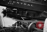 Image of train collusion Lowell Massachusetts USA, 1955, second 10 stock footage video 65675055712