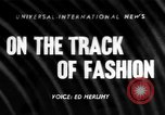 Image of Fashion Parade Belmont Park New York USA, 1957, second 1 stock footage video 65675055745