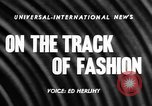 Image of Fashion Parade Belmont Park New York USA, 1957, second 3 stock footage video 65675055745