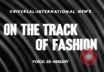 Image of Fashion Parade Belmont Park New York USA, 1957, second 4 stock footage video 65675055745