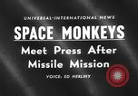 Image of space monkeys Cape Canaveral Florida USA, 1959, second 1 stock footage video 65675055767
