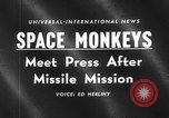 Image of space monkeys Cape Canaveral Florida USA, 1959, second 2 stock footage video 65675055767