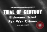 Image of Karl Adolf Eichmann trial Jerusalem Israel, 1961, second 1 stock footage video 65675055778