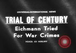 Image of Karl Adolf Eichmann trial Jerusalem Israel, 1961, second 2 stock footage video 65675055778