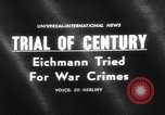 Image of Karl Adolf Eichmann trial Jerusalem Israel, 1961, second 4 stock footage video 65675055778