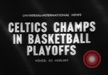 Image of basketball match Boston Massachusetts USA, 1961, second 1 stock footage video 65675055779