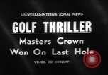 Image of Masters Tournament Georgia United States USA, 1961, second 5 stock footage video 65675055780