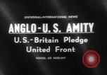 Image of Anglo-American Amity Washington DC USA, 1961, second 3 stock footage video 65675055787