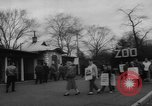 Image of strike at zoo Bronx New York City USA, 1961, second 7 stock footage video 65675055791