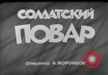 Image of army cook Moscow Russia Soviet Union, 1961, second 2 stock footage video 65675055814