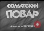 Image of army cook Moscow Russia Soviet Union, 1961, second 3 stock footage video 65675055814