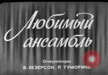 Image of song and dance ensemble Moscow Russia Soviet Union, 1961, second 2 stock footage video 65675055815