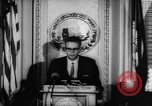 Image of officers give speech Washington DC USA, 1963, second 9 stock footage video 65675055827