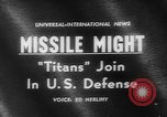 Image of Missile Titan Denver Colorado USA, 1962, second 2 stock footage video 65675055844