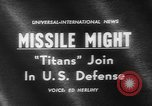 Image of Missile Titan Denver Colorado USA, 1962, second 3 stock footage video 65675055844