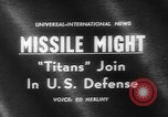 Image of Missile Titan Denver Colorado USA, 1962, second 4 stock footage video 65675055844
