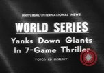 Image of 1962 World Series Baseball Championship San Francisco California USA, 1962, second 1 stock footage video 65675055856