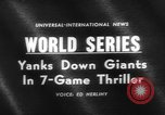 Image of 1962 World Series Baseball Championship San Francisco California USA, 1962, second 3 stock footage video 65675055856