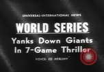 Image of 1962 World Series Baseball Championship San Francisco California USA, 1962, second 4 stock footage video 65675055856