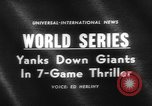 Image of 1962 World Series Baseball Championship San Francisco California USA, 1962, second 5 stock footage video 65675055856