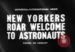 Image of welcome of American astronauts New York United States USA, 1962, second 4 stock footage video 65675055879