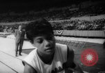 Image of indoor track and field meet California United States USA, 1962, second 11 stock footage video 65675055885