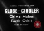 Image of chimpanzee Enos orbits the earth Cape Canaveral Florida USA, 1961, second 2 stock footage video 65675055893
