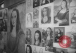 Image of Mona Lisa paintings New York City USA, 1963, second 4 stock footage video 65675055908