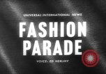Image of fashion parade Paris France, 1963, second 4 stock footage video 65675055909