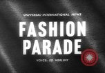 Image of fashion parade Paris France, 1963, second 5 stock footage video 65675055909